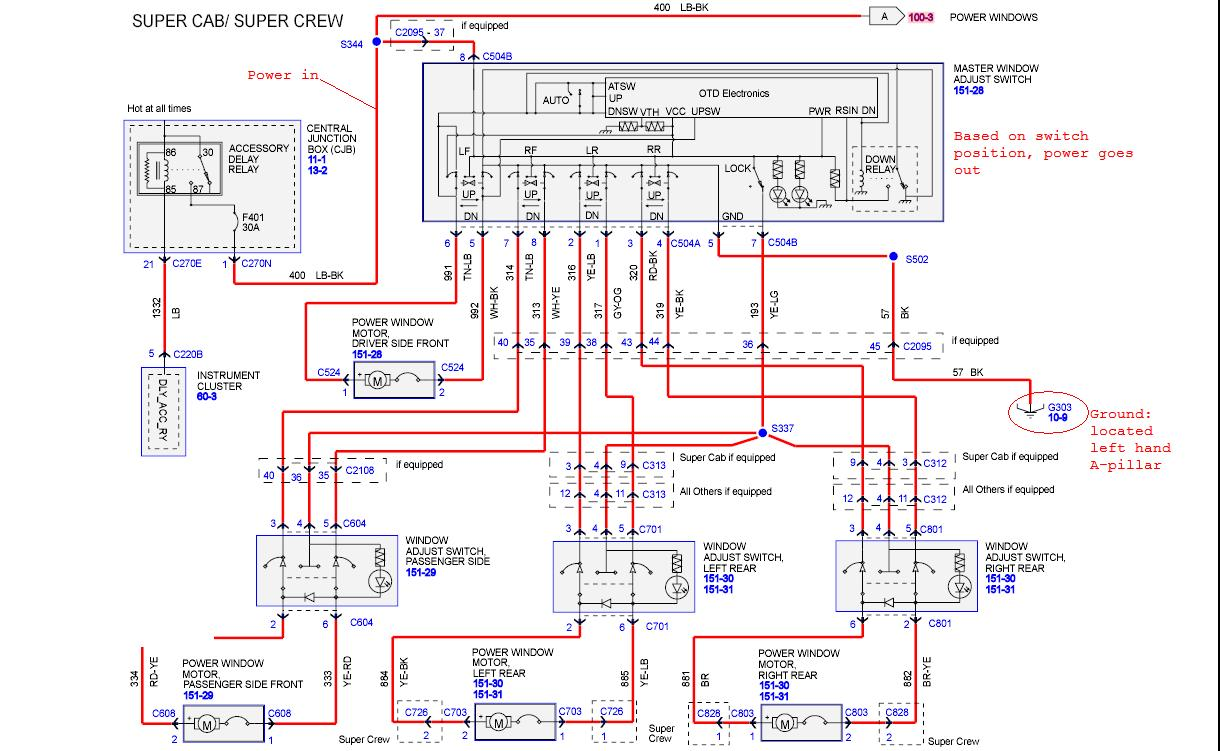 98 f150 power window wiring diagram 98 wiring diagrams