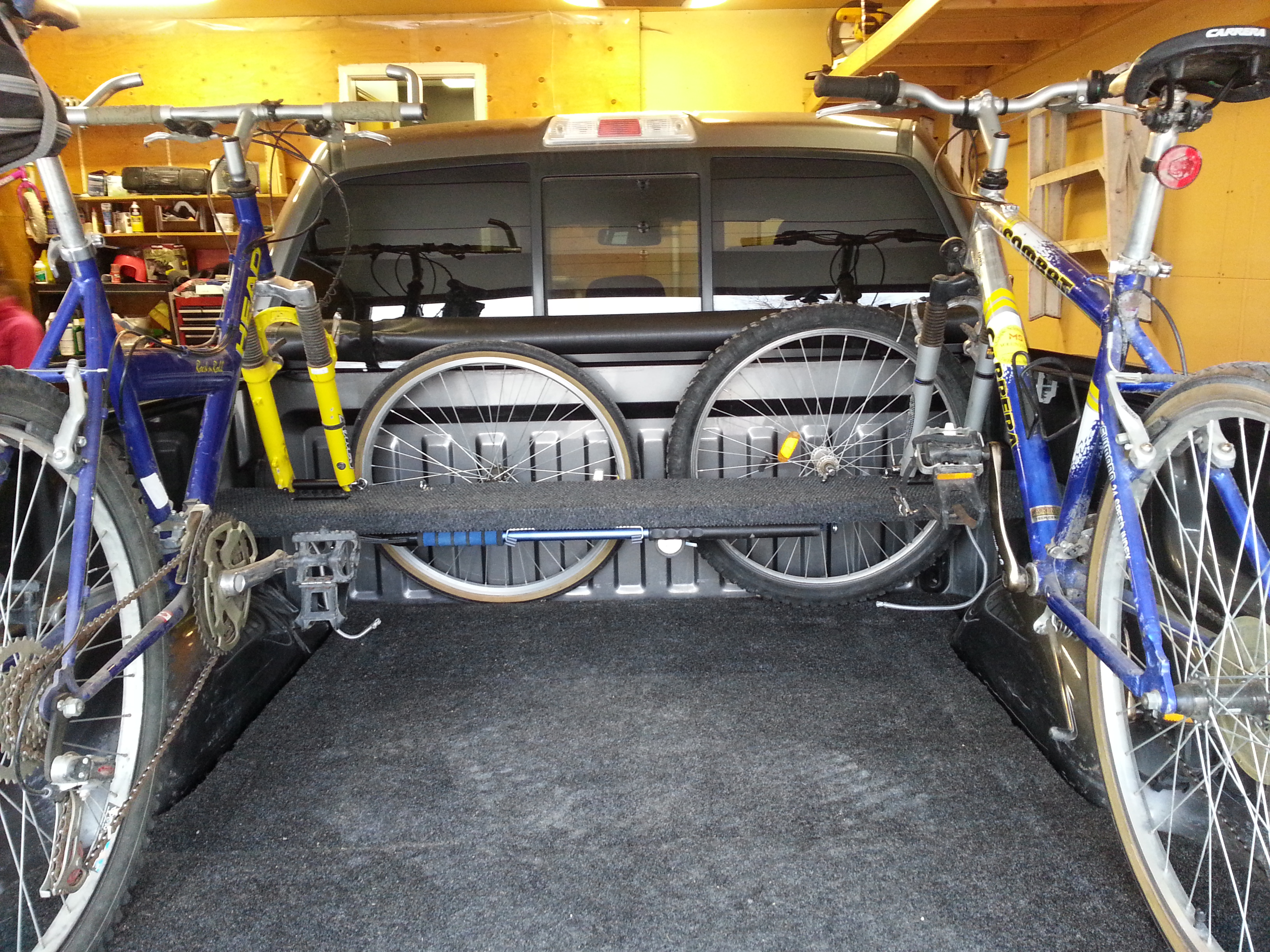 RVNet Open Roads Forum Bike Rack For Pickup With A Trailer Not