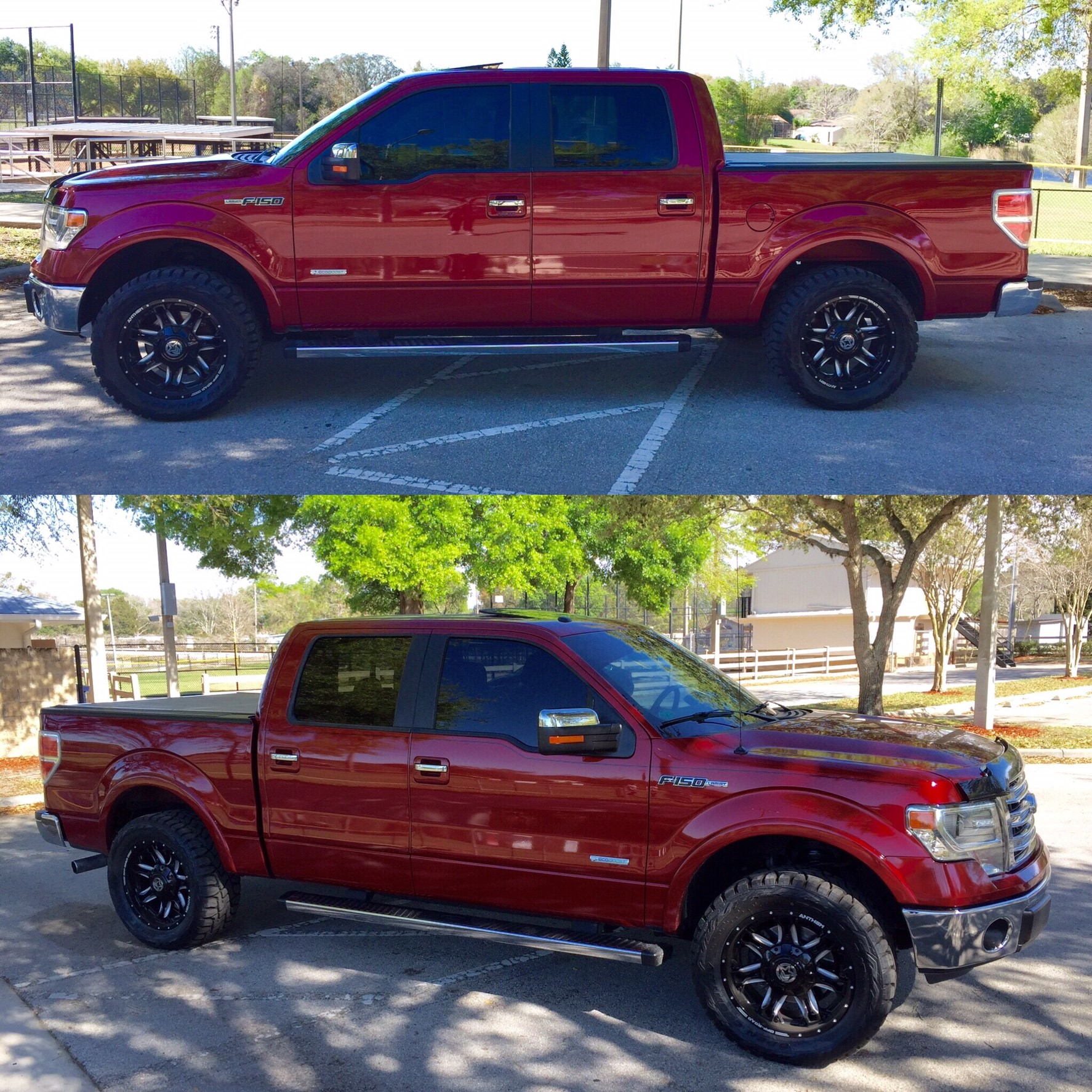f150 ruby chrome metallic rims kit leveling ford lariat forum wheels air tires open offset anthem rear truck supercrew rt