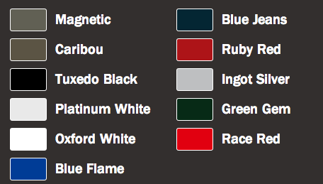 Color Options For The 2015 Ford F150