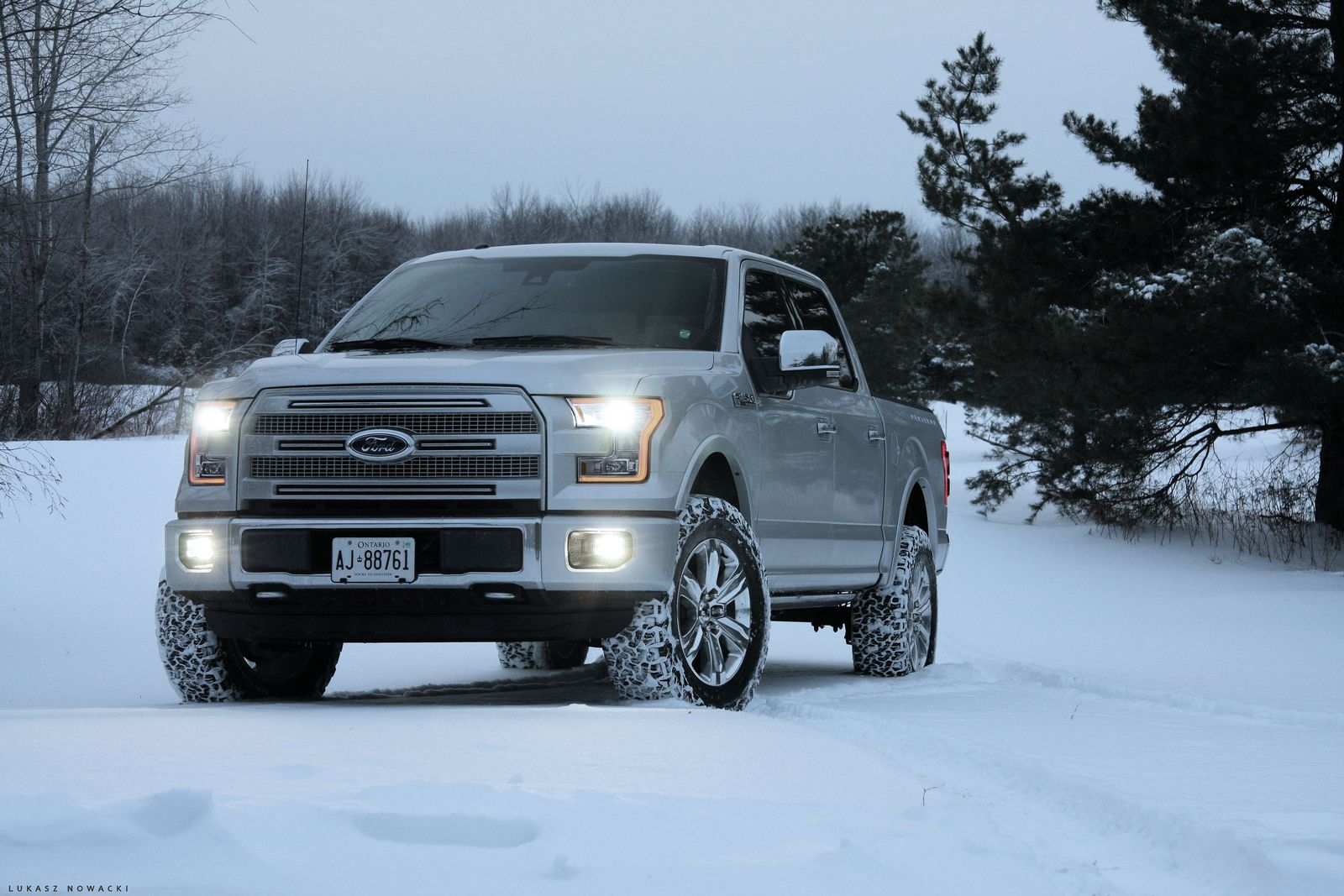 "2015 F150 Platinum with 2"" Leveling Kit, 3"" Rear Block ..."