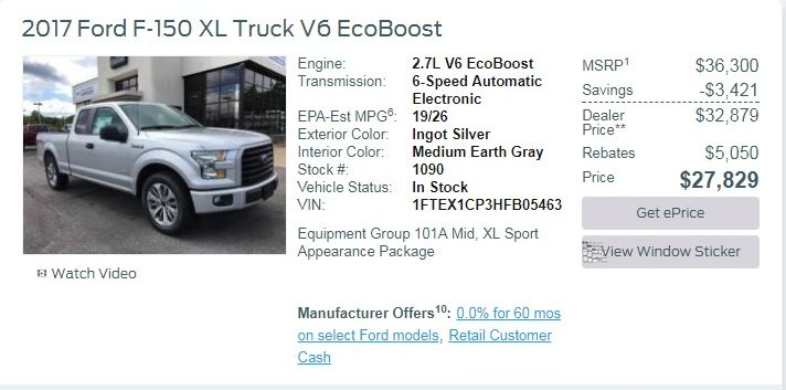 Ford F For Sale Carsforsalecom