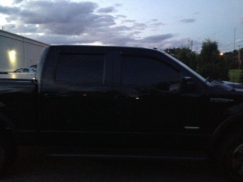 What percentage is the window tint installed from factory for 5 percent window tint
