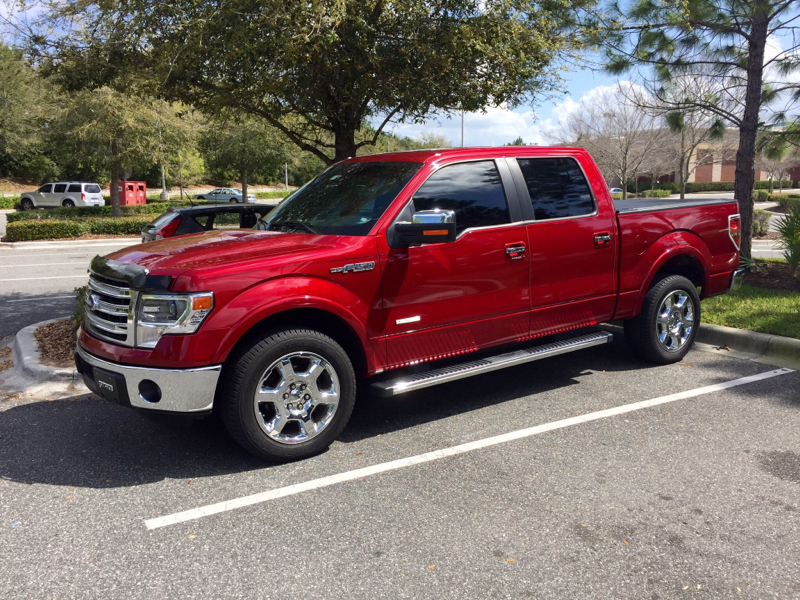 Chrome or black rims on a 2014 f150 ruby red metallic publicscrutiny Gallery