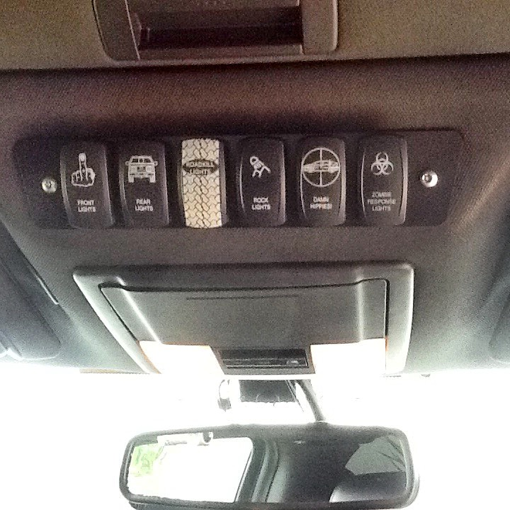 Crown Offroad Aux Switch Panel for Contura Style Switches