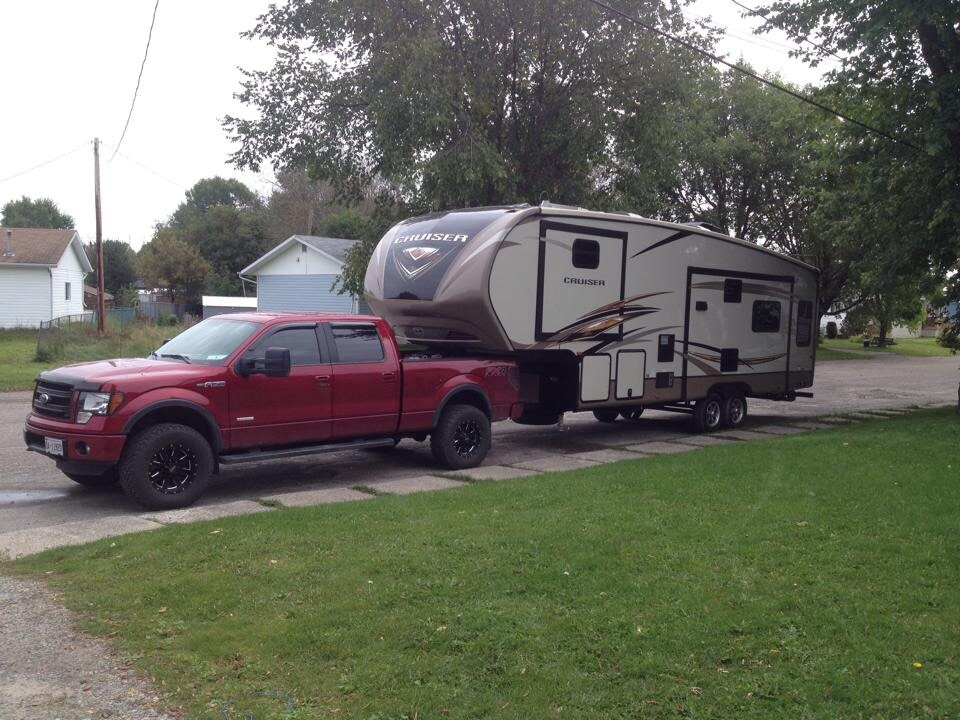towing with leveling kit, roadmaster active suspension, And larger