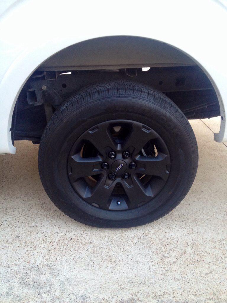 "12 FX2 Screw 18"" wheels plasti dipped today"