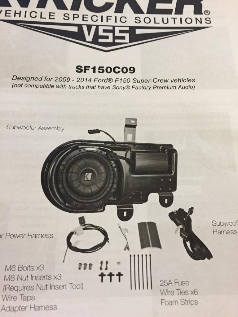 Ford F 150 Fx4 Kicker Vss Subwoofer Upgrade 2015 F150 Fuse Box Name Imageuploadedbytapatalk1424484035345625 Views 14673 Size 2265