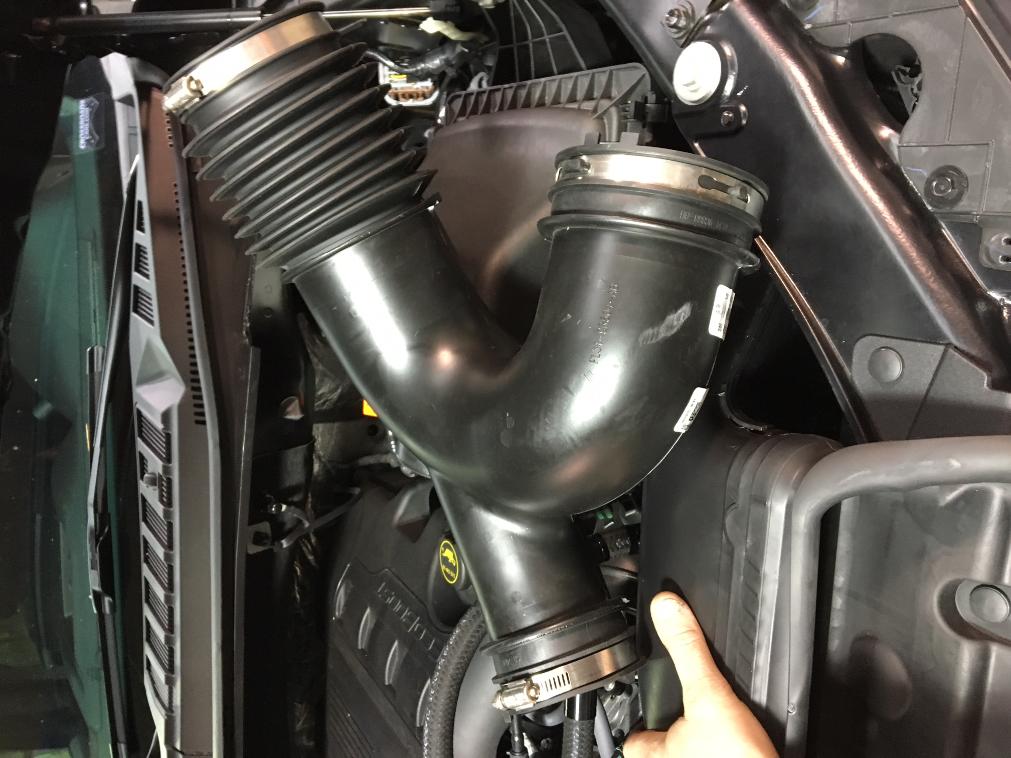 ecoboost f150 thermostat pics and some install pics