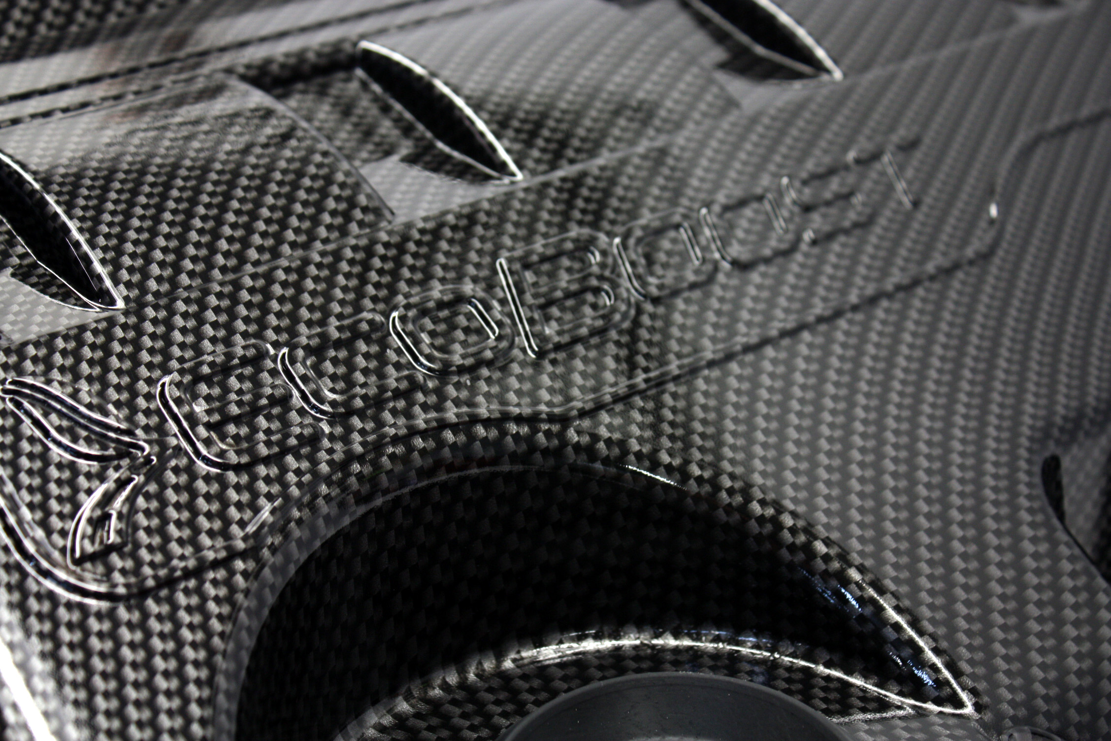 F150 Ecoboost Hydro dipped carbon fiber pattern engine covers