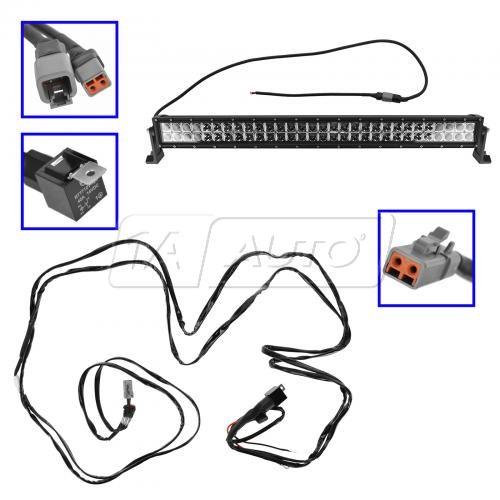32 u0026quot  180 watt cree light bar with wire harness kit free