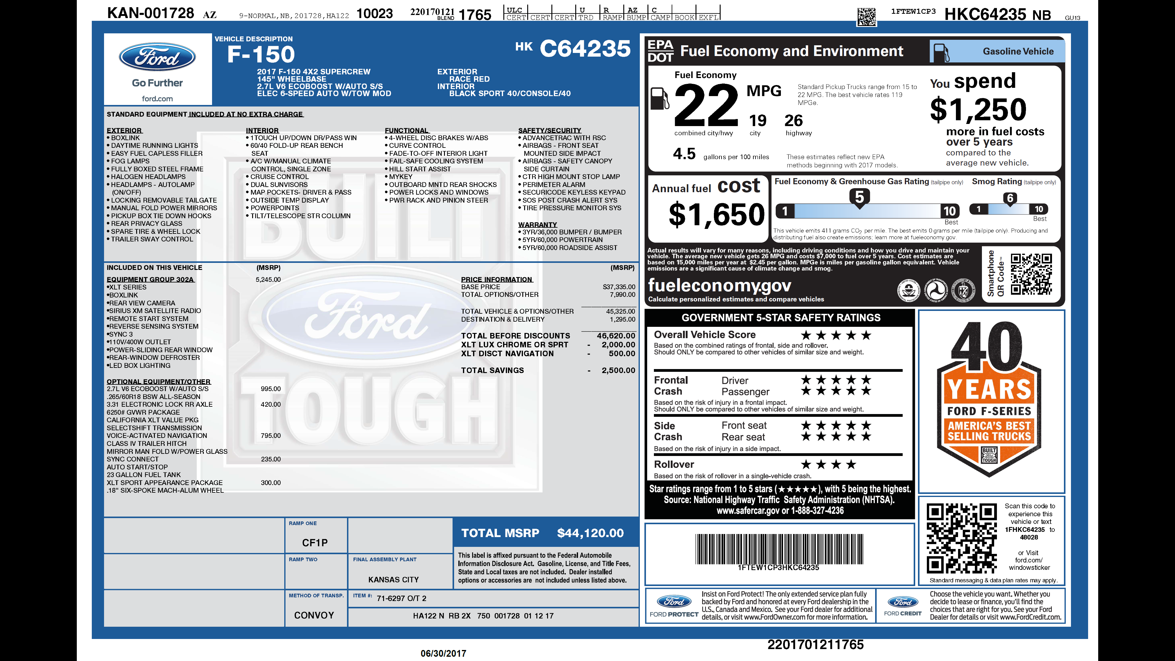 2014 F150 Platinum >> Just bought a 2017 F150 XLT 2.7 Ecoboost - wondering if I got a good deal
