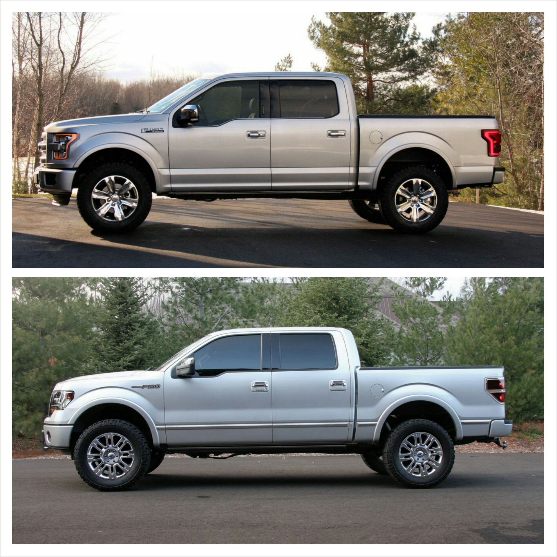 """Leveling Kit For Ford F150: 2015 F150 Platinum With 2"""" Leveling Kit, 3"""" Rear Block"""