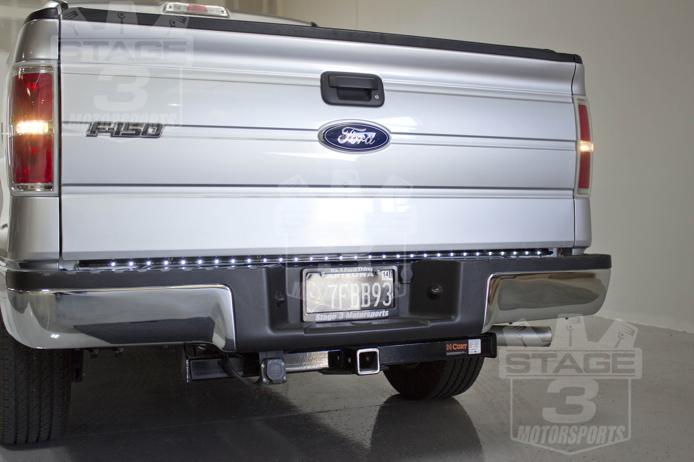 F150 Recon Tail Gate Led Light Bar Installed