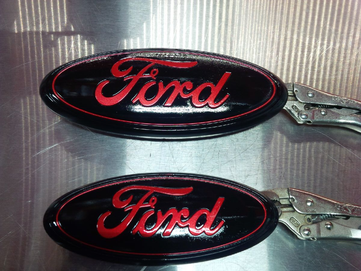 Custom ford emblems and badges