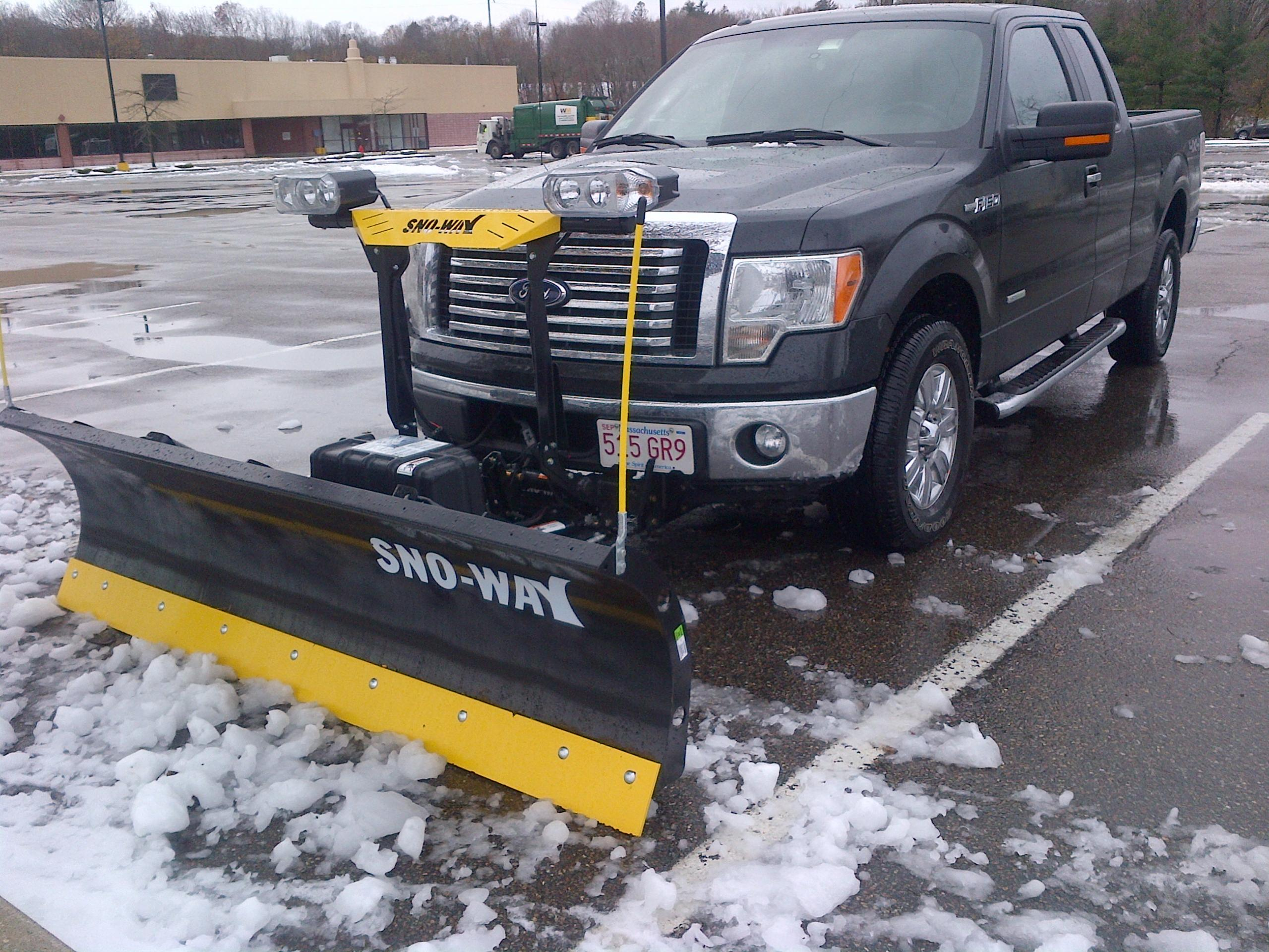 Yes you can plow with the F150