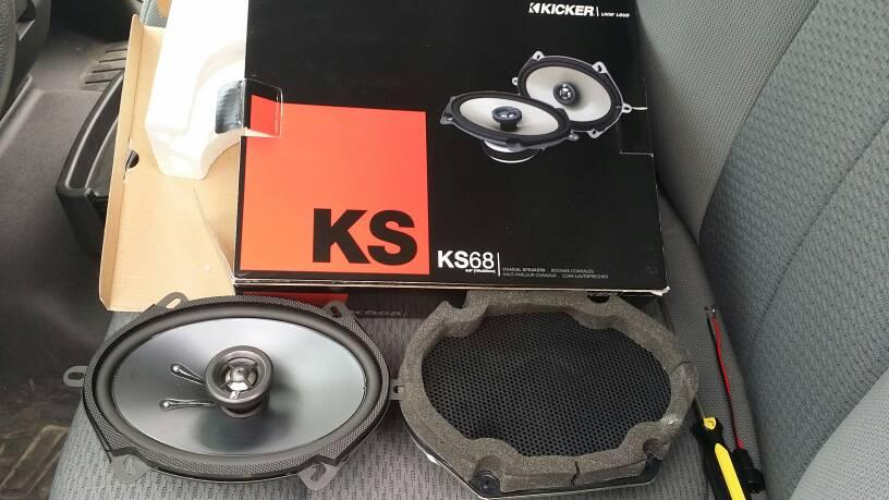 Installed Kicker Door Speakers Today