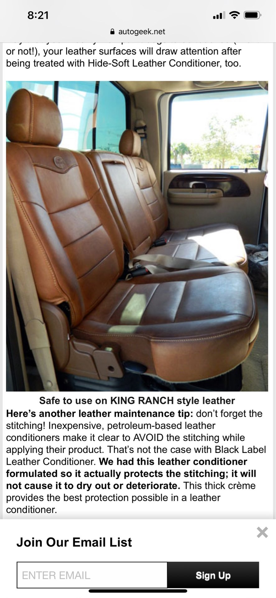 Planning on cleaning my 2013 king ranch leather seats
