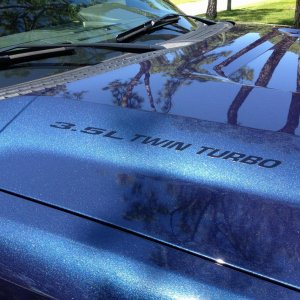 3.5L twin Turbo hood decals